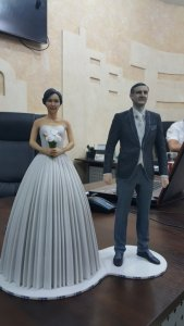 Цветная 3D печать гипсом - заказать лучший подарок на свадьбу в Киеве