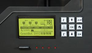 3D принтер CreatBot DX Plus панель управления
