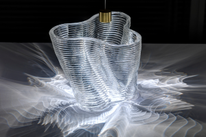 Стеклянный светильник на 3D принтере