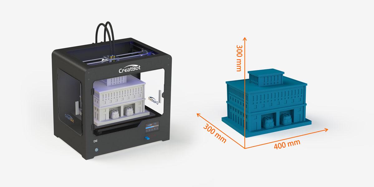 3D принтер CreatBot DE область печати