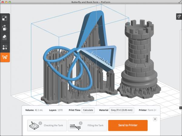 3д принтер Formlabs Form 2 заказать 3ddevice.com.ua ПО