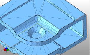 3D модель с разорванными гранями
