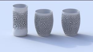 3D-печатные фарфоровые чашки