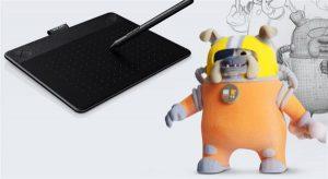 3д моделирование с помощью графического планшета Intuos 3D