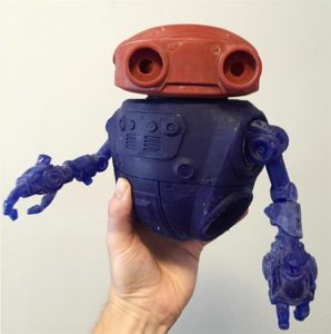 Робот с помощью SLA 3Д-печати