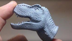 Обработка изделий из скульптурного полимера для 3Д печати