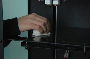 Очистка стола 3D_принтера