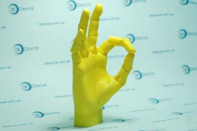 Модель руки на шарнирах, напечатанная на 3D принтере