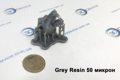 Точная печать серой смолой 50 микрон
