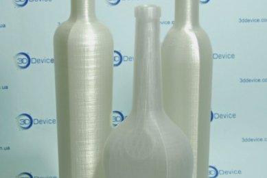 3D печать бутылка из пластика