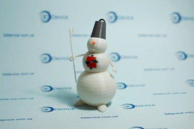 Снеговик на 3D принтере