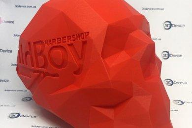 Череп для барбершопа на 3Д принтере