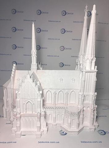 Николаевский костёл на 3д принтере
