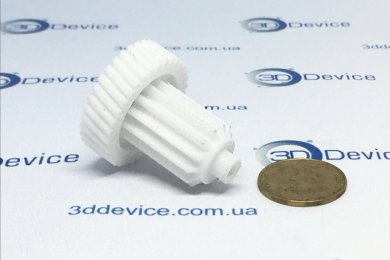 3Д печать шестерни на Клеме 250
