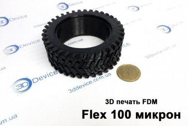 3Д печать шины из резины