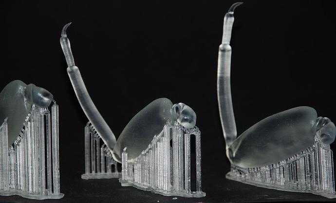 Напечатано из фотополимерной смолы Formlabs Clear Resin