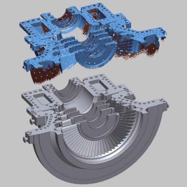 Сканирование деталей с помощью 3D сканера IMETRIC IScan S120