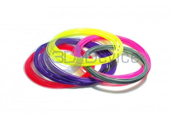 Пластик для 3D-ручки – набор из 5 цветов