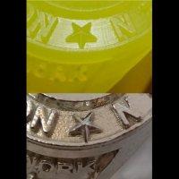 Фотополимер для ювелиров B9 Yellow Resin в работе