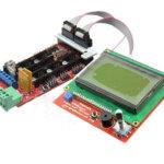 Купить графический дисплей 12864 LCD MKS с картридером