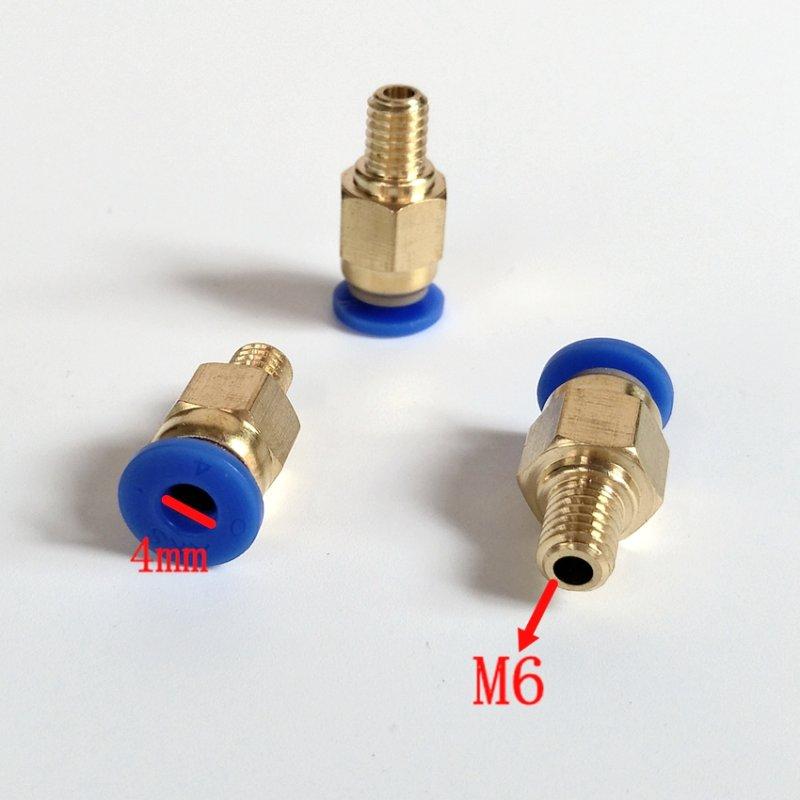 Купить фитинг для тефлоновой трубки PC4-M6