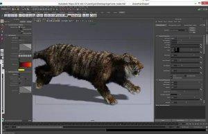 Создание реализстичной шерсти в Autodesk Maya