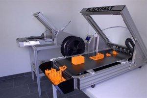 Уникальная работа 3D принтера как конвейера