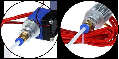 Фитинг для тефлоновой трубки установка в 3Д принтер