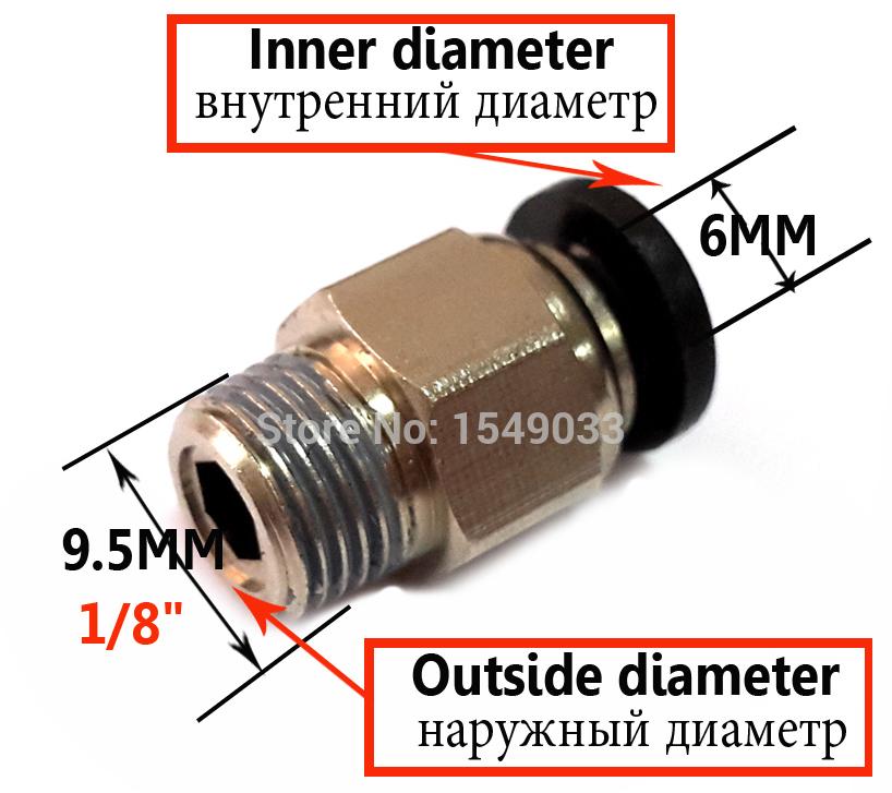 PC6-01 фитинг для тефлоновой трубки