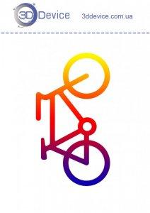 Велосипед трафареты для 3D ручки