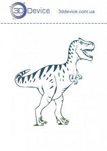 Трафареты для 3D ручки динозавр