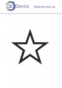 Звезда трафареты для 3D ручки