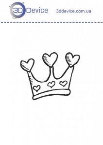 Трафареты для 3D ручки корона