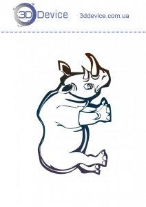 Трафареты для 3D ручки носорог