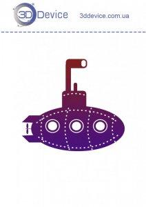 Подводная лодка трафареты для 3D ручки