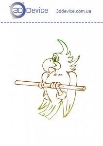 Шаблоны для 3D ручки попугай