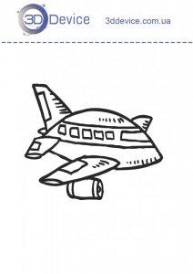 Самолетик трафареты для 3D ручки