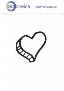 Сердце трафареты для 3D ручки
