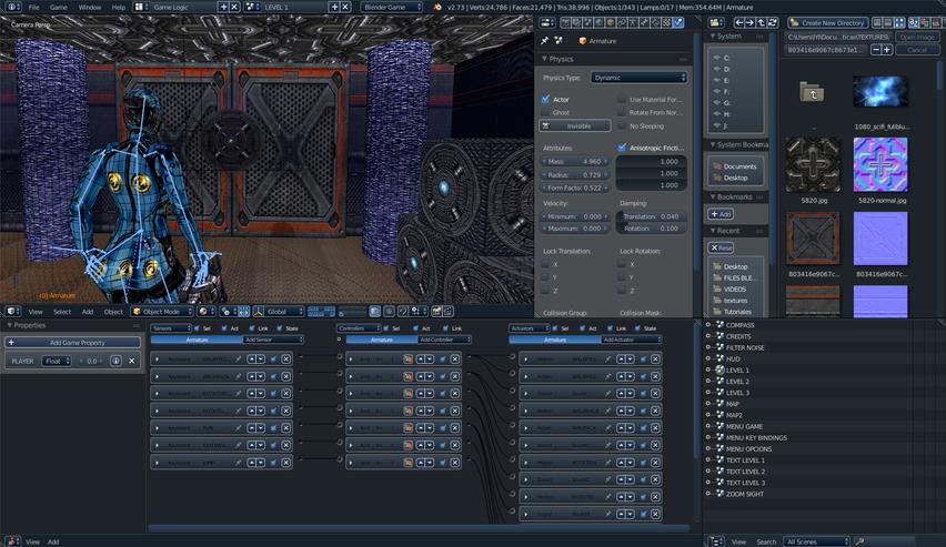 Blender обзор игровой движок