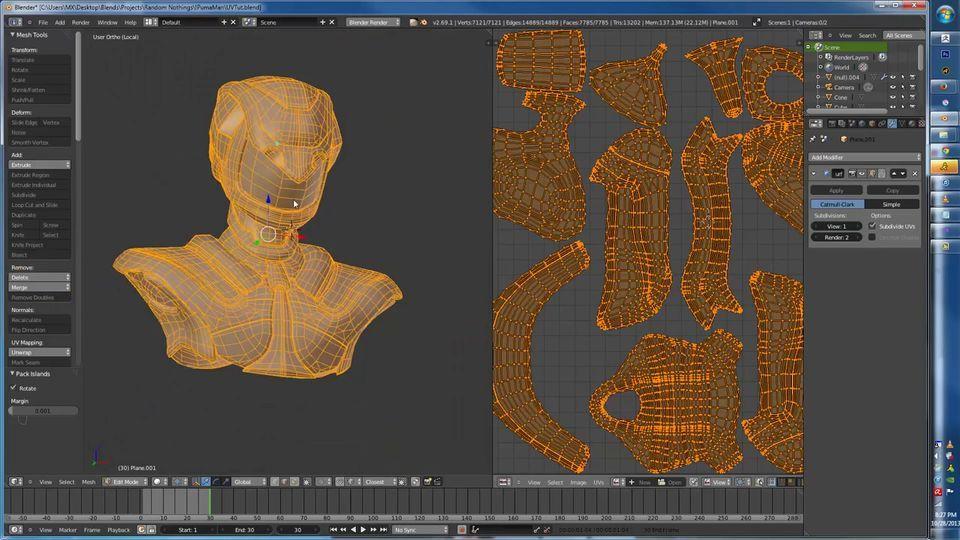 Blender обзор текстурирование