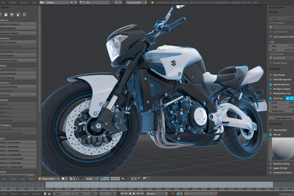 Blender обзор 3D моделирование