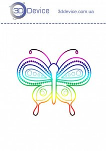 Трафареты для 3D ручки Бабочка 1