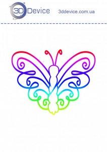 Трафареты для 3D ручки Бабочка 3