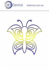 Трафареты для 3D ручки Бабочка 4