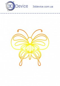 Трафареты для 3D ручки Бабочка 5