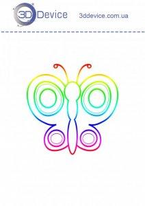 Трафареты для 3D ручки Бабочка 6