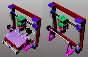 Трехмерная биопечать на принтере с 4 осями