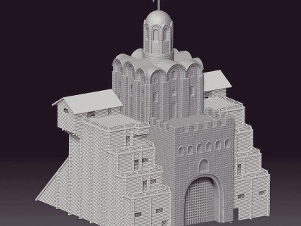 3Д моделирование Золотые ворота