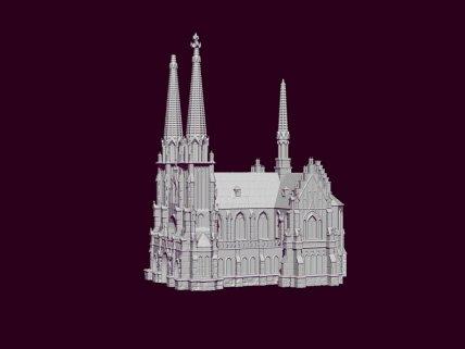 3Д моделирование Николаевский костёл