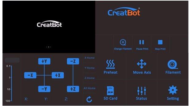 3D принтер CreatBot F430 екран